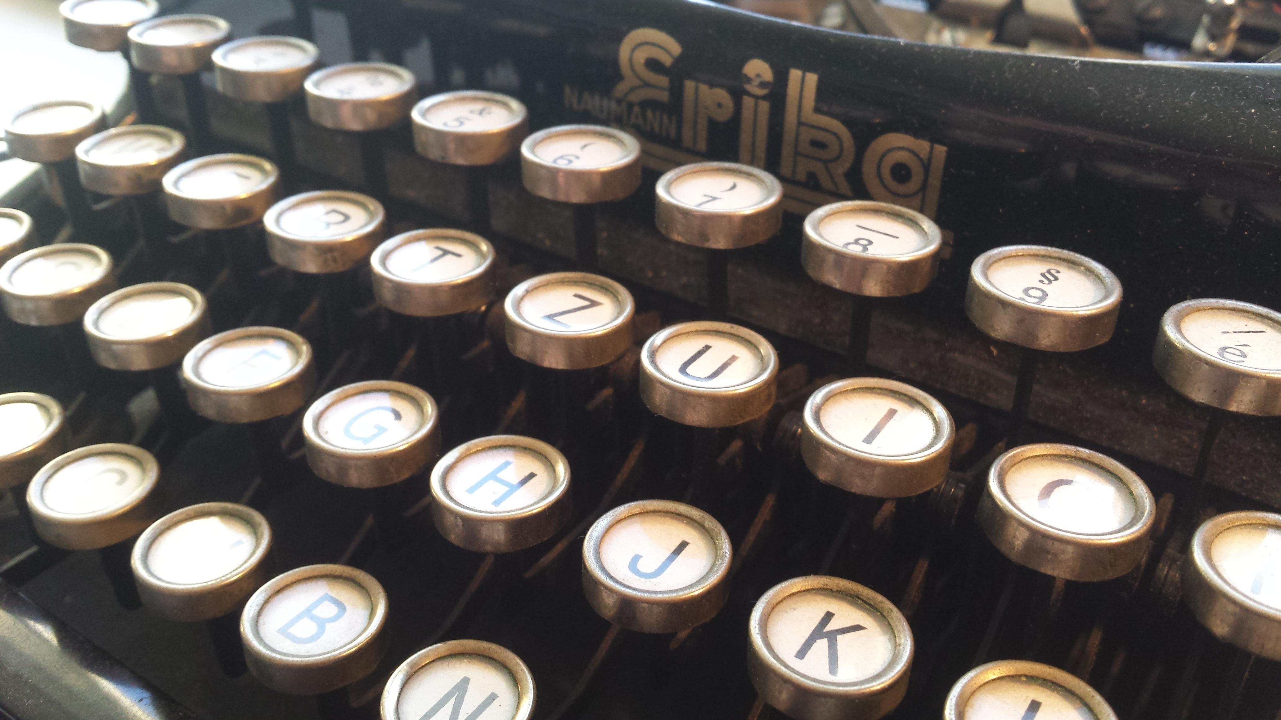 Produkte aus der Schreibmaschine